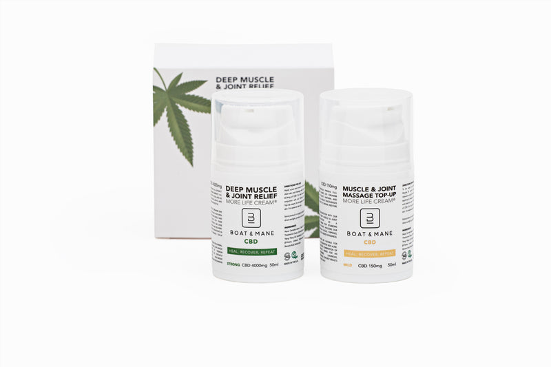 Deep Pain, Muscle and Joint Relief High-Strength CBD Cream (100ml) (4000mg + 150mg Supplementary Cream)