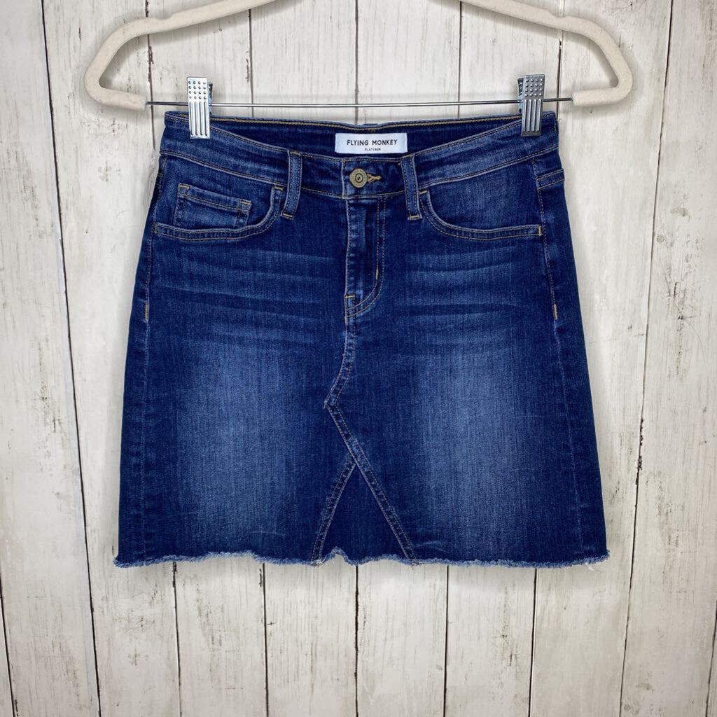 Size 24/XS: Dark Wash Denim Skirt