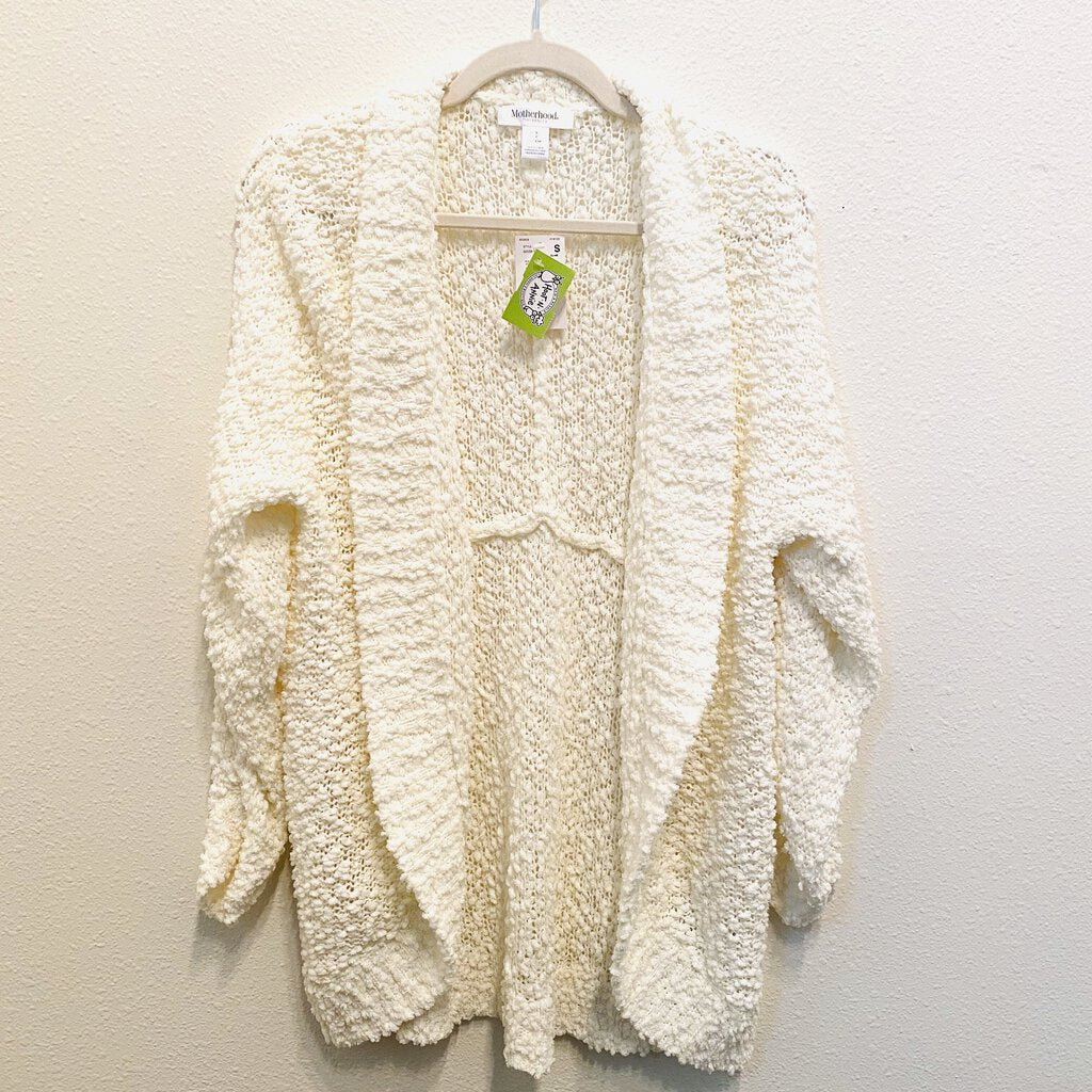 S: NWT White Textured Knit Cardigan