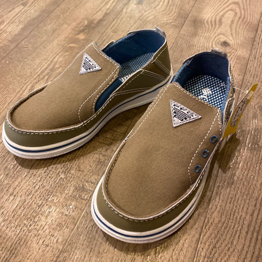 Size 12: NEW Olive Canvas Slip-Ons