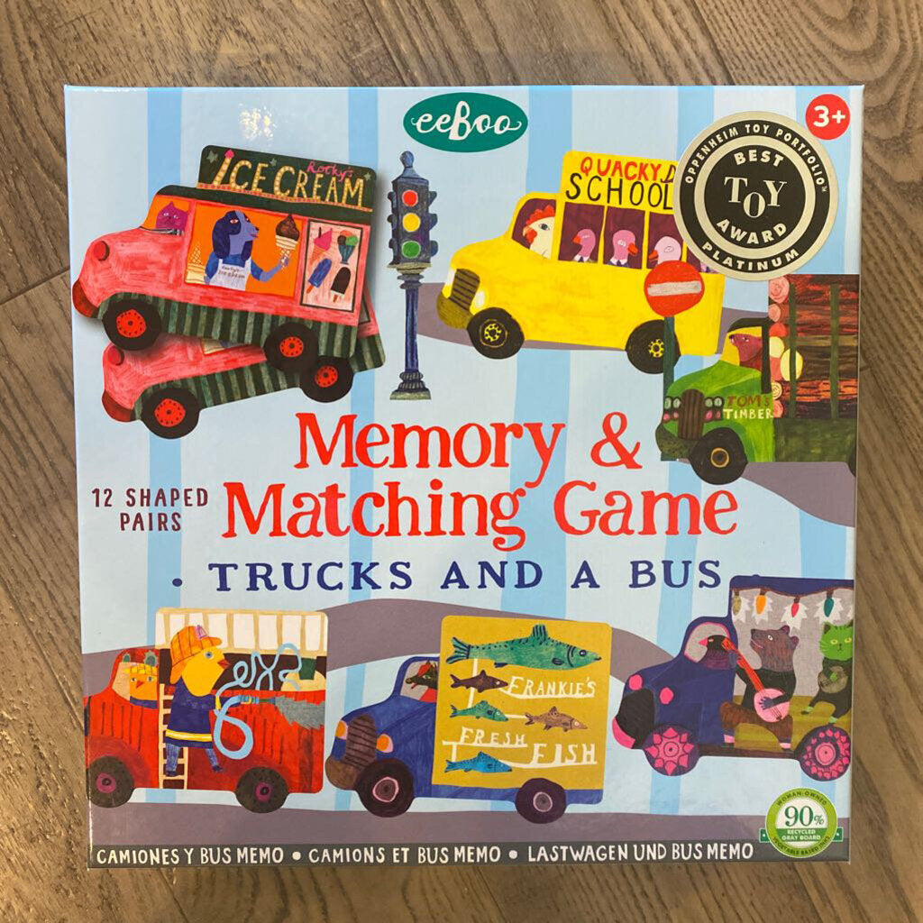 NEW Barefoot Books Trucks Memory Game