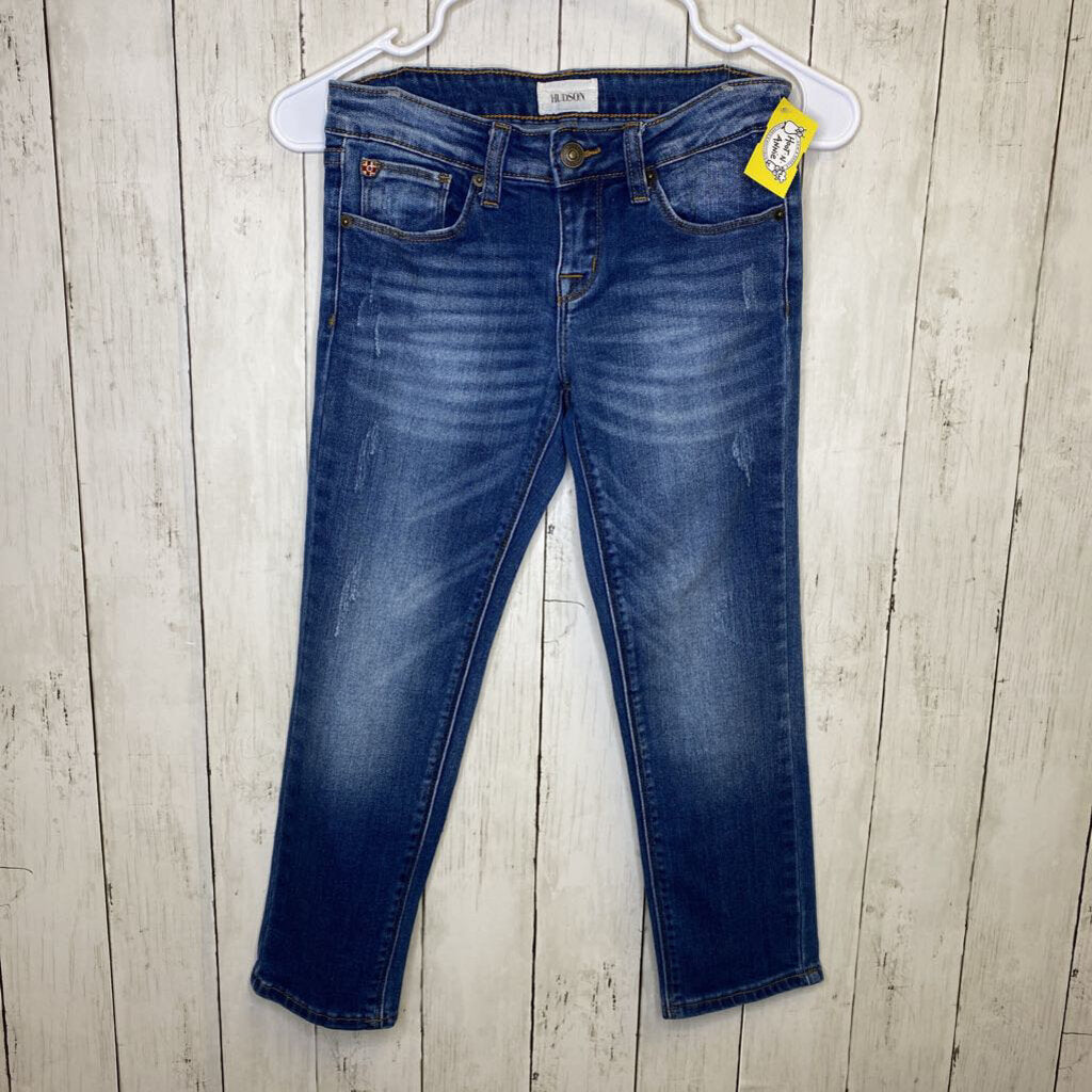 8: Light Wash Distressed Skinny Jeans