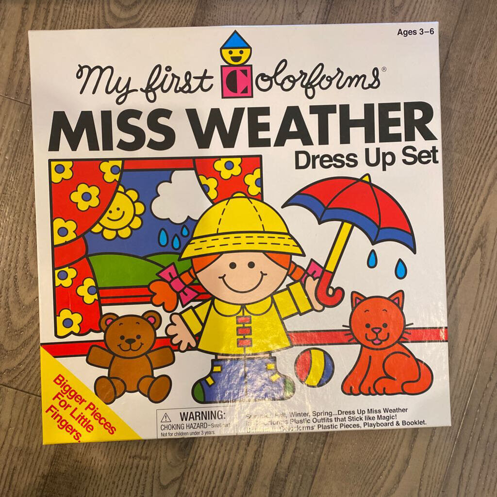 My First Colorforms Miss Weather Dress-Up