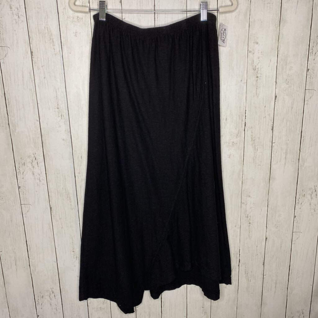M: Black Asym Long Skirt