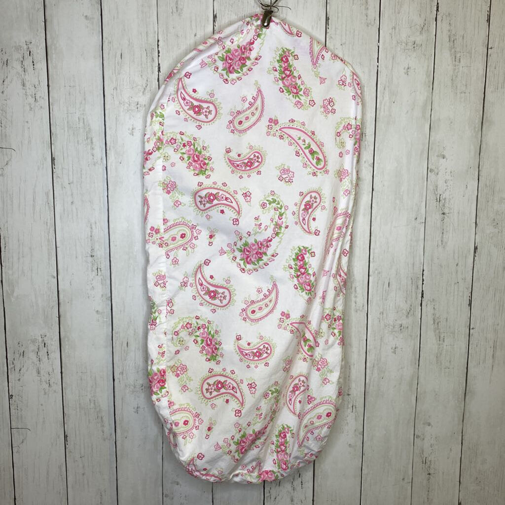 Pottery Barn Kids Pink Paisley Bassinet Sheet