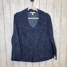 Load image into Gallery viewer, M: Dark Chambray Knot Collar Jacket