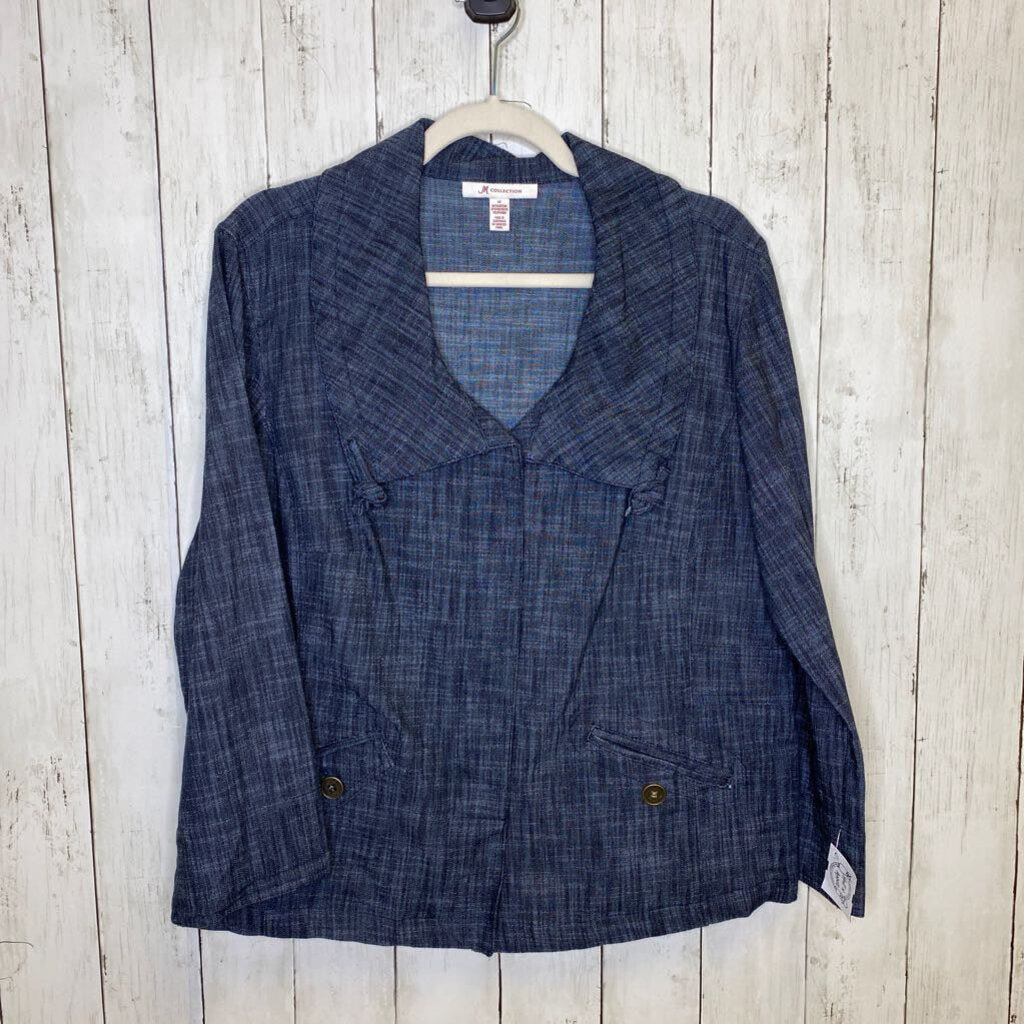 M: Dark Chambray Knot Collar Jacket
