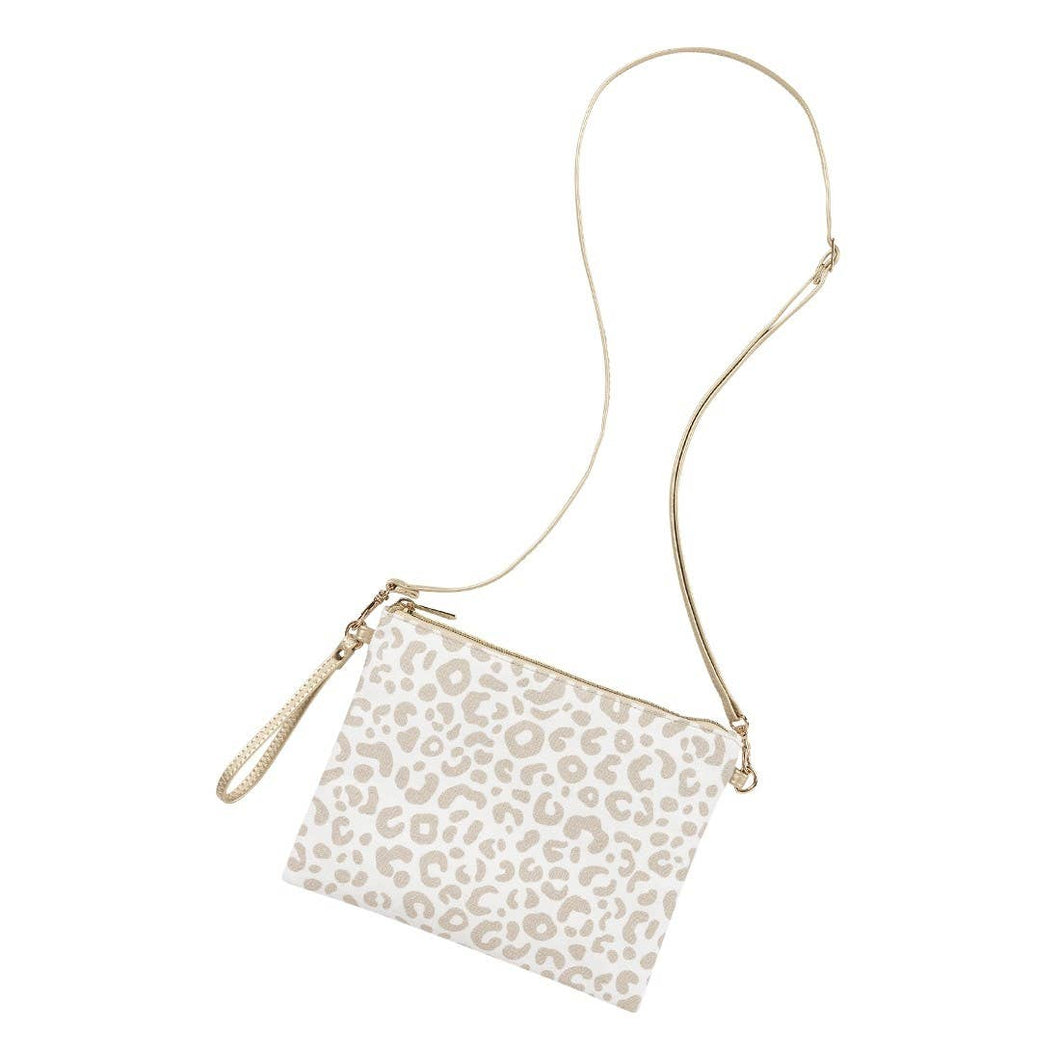 Natural Leopard Hayley Purse
