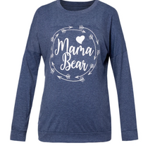 Load image into Gallery viewer, Mama Bear Pullover Tee With Pockets