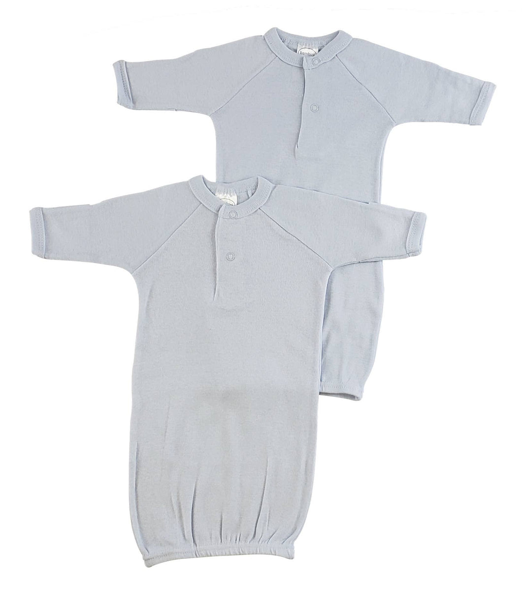 Bambini Preemie Solid Blue Gown (Single Gown)