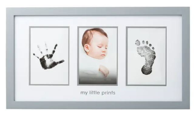 Babyprints Photo Frame and Ink Kit, Gray