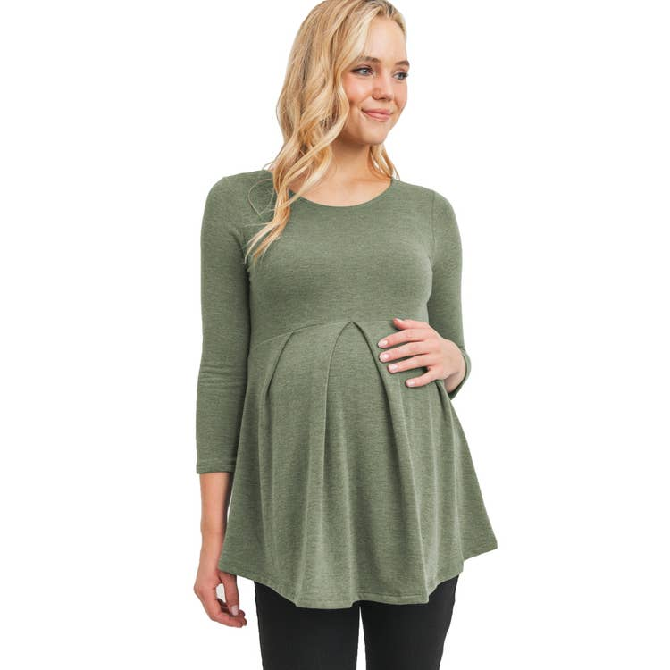 Olive Empire Waist Top