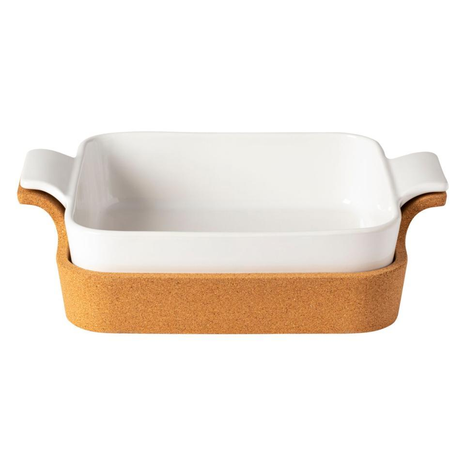 Casafina Ensemble Gift Sq. Baker w/ Cork Tray 13