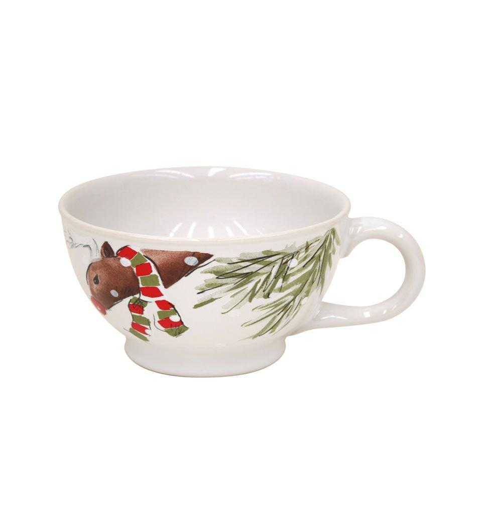 Casafina Deer Friends Jumbo Mug 24 oz. White