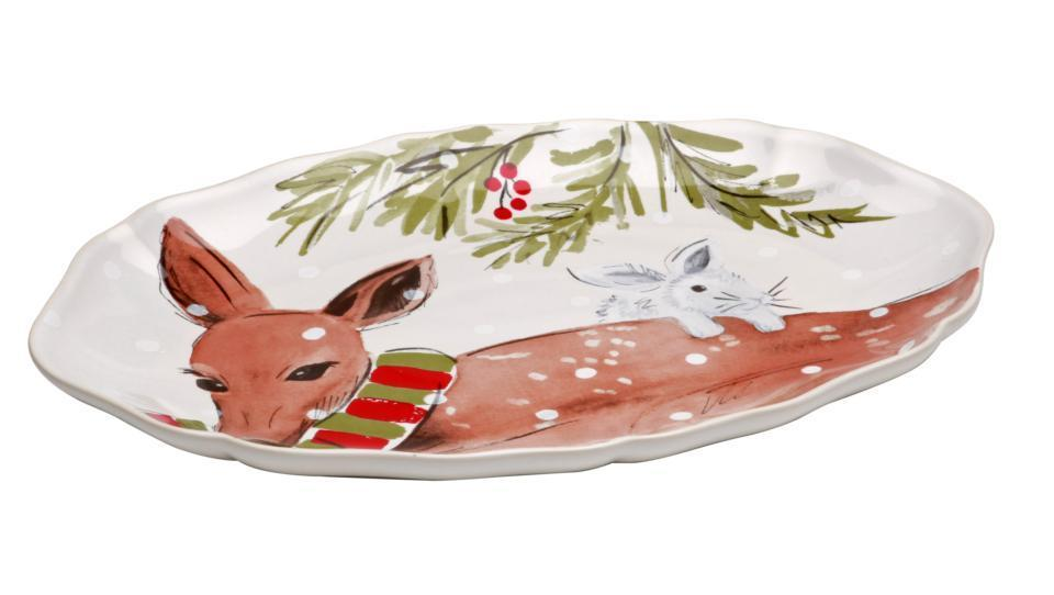 Casafina Deer Friends Oval Platter 13