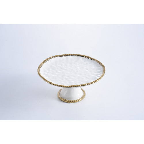 Pampa Bay Golden Salerno Round Cake Stand