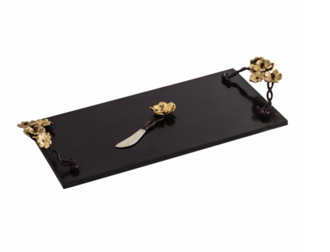 Star Home Wild Blossom Cheese Board w/ Knife