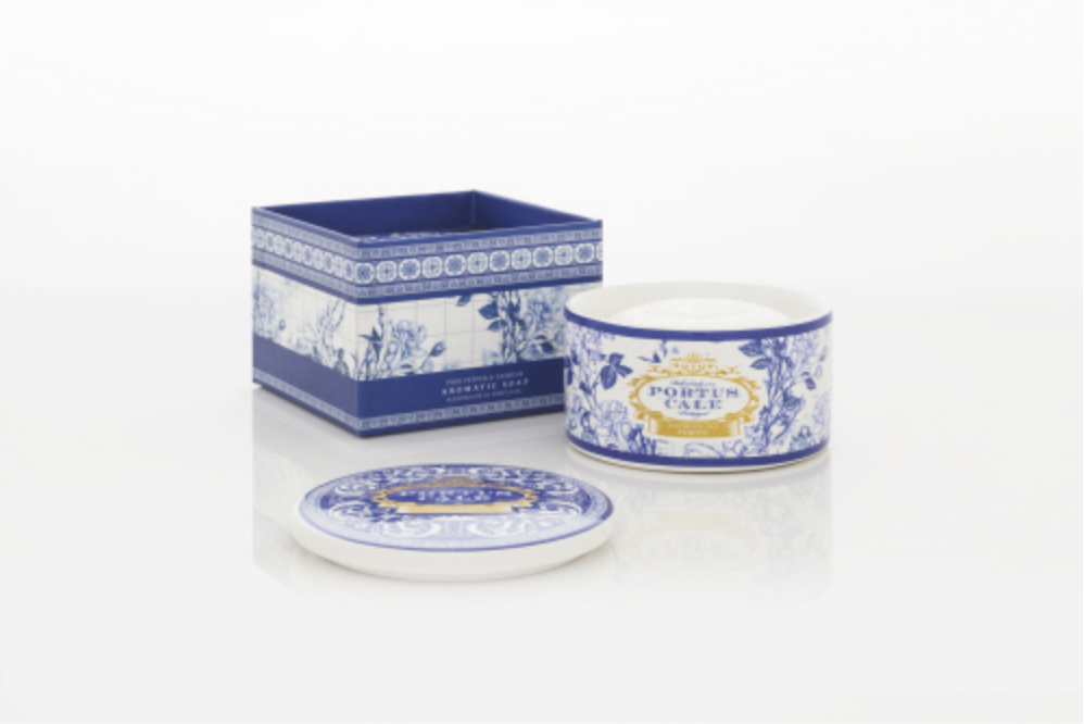 Portus Cale Gold & Blue 150g Soap in Jewel Box