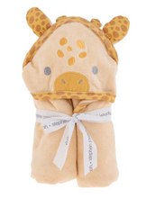 Load image into Gallery viewer, Giraffe Hooded Bath Towel