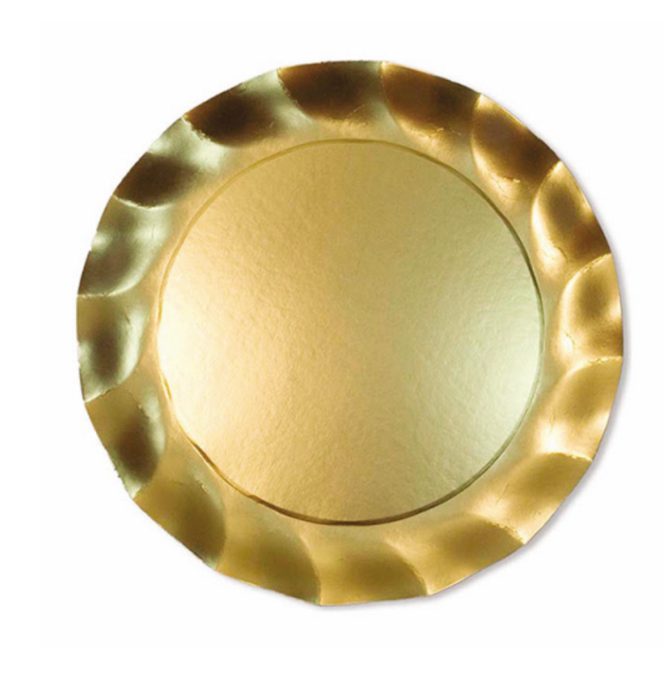 Wavy Salad Plate Satin Gold/8PK