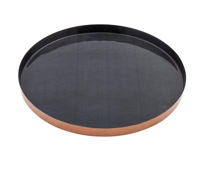 Round Tray Charcoal
