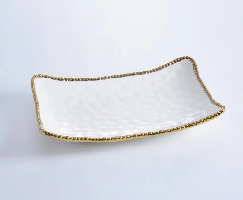 Pampa Bay Golden Salerno Rectangular Serving Piece