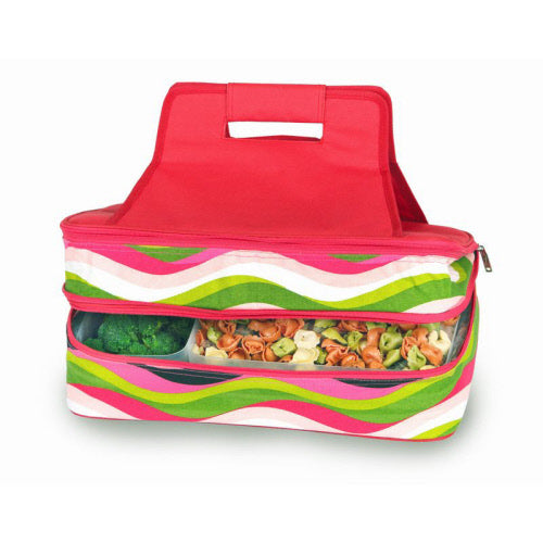 Oak & Olive Hot & Cold Food Carrier - Wavy Watermelon