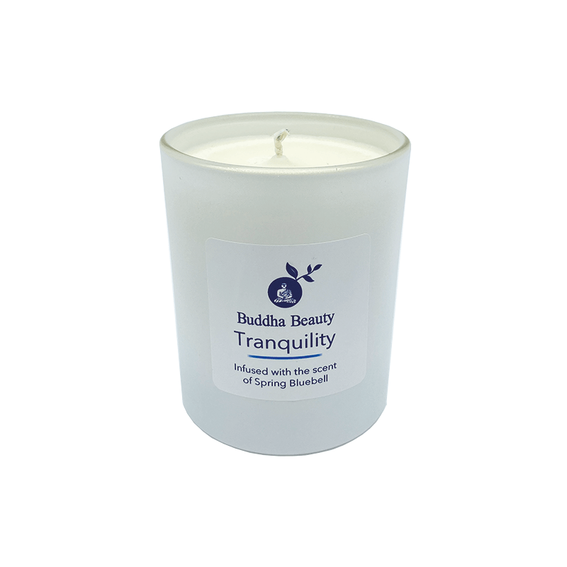 Tranquility Bluebell plant Wax Room Candle, Home Fragrances