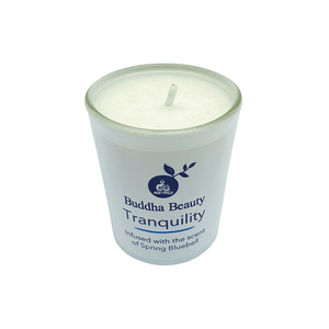 Tranquility Bluebell Plant Wax Votive Candle, Home Fragrances