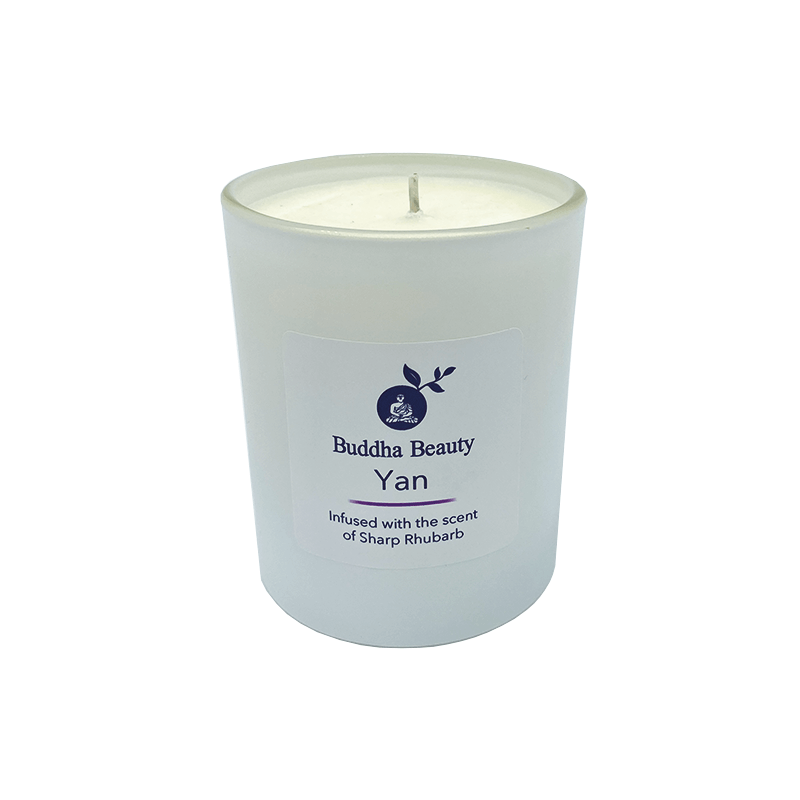 Yan Rhubarb Plant Wax Room Candle, Home Fragrances