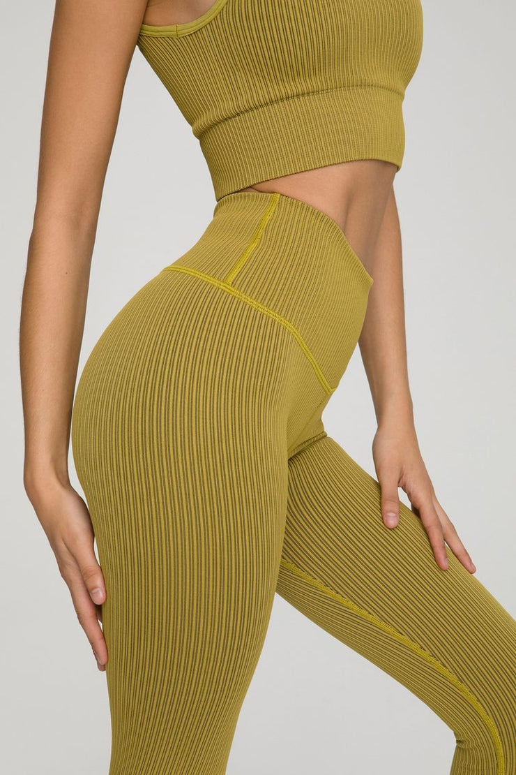 THE SEAMLESS RIBBED LEGGING