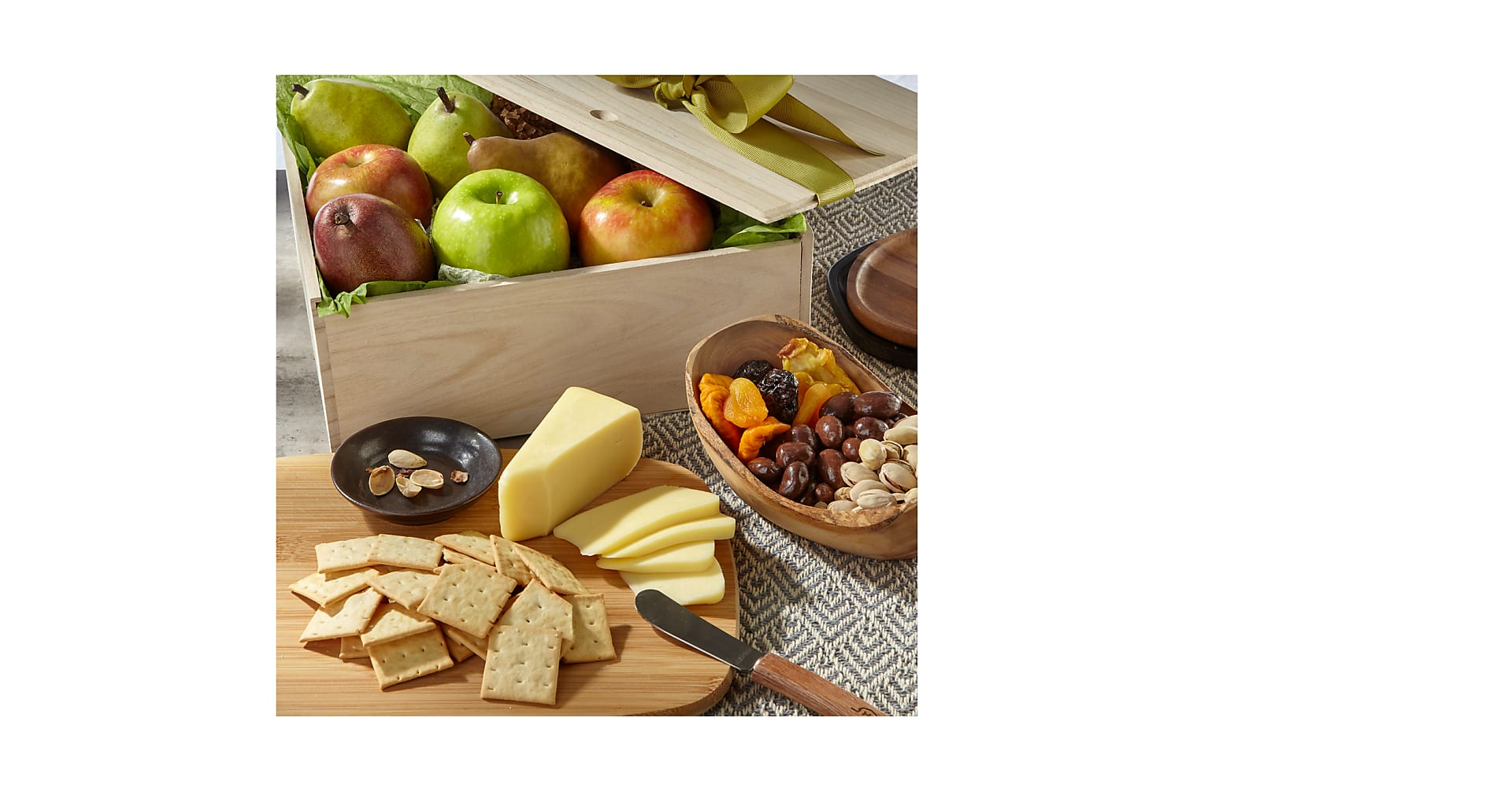 Gourmet Fruit, Cheese & Nut Gift Crate - Image 1 Of 2
