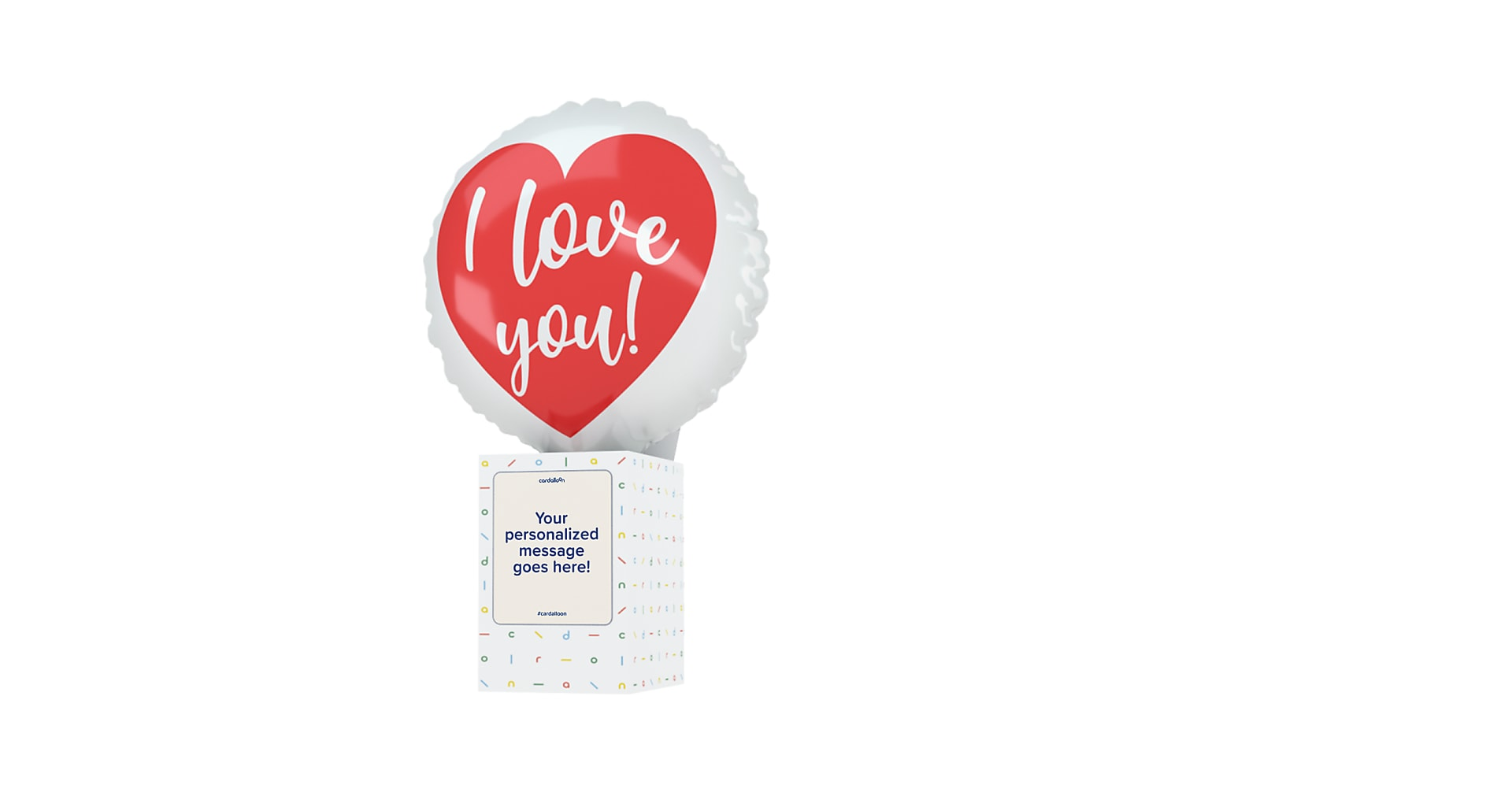 I Love You Cardalloon - Image 1 Of 7