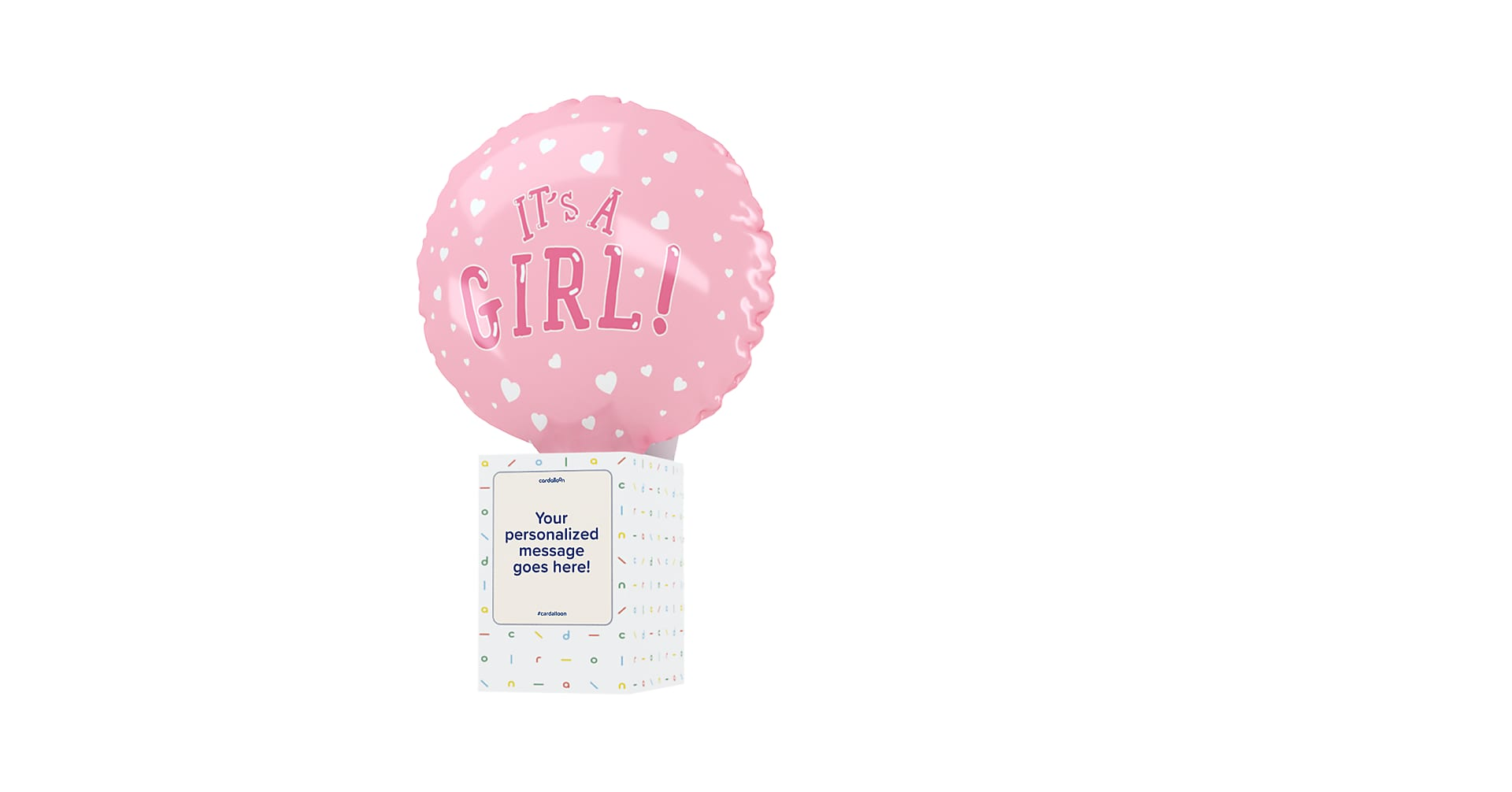Its A Girl Cardalloon - Image 1 Of 7