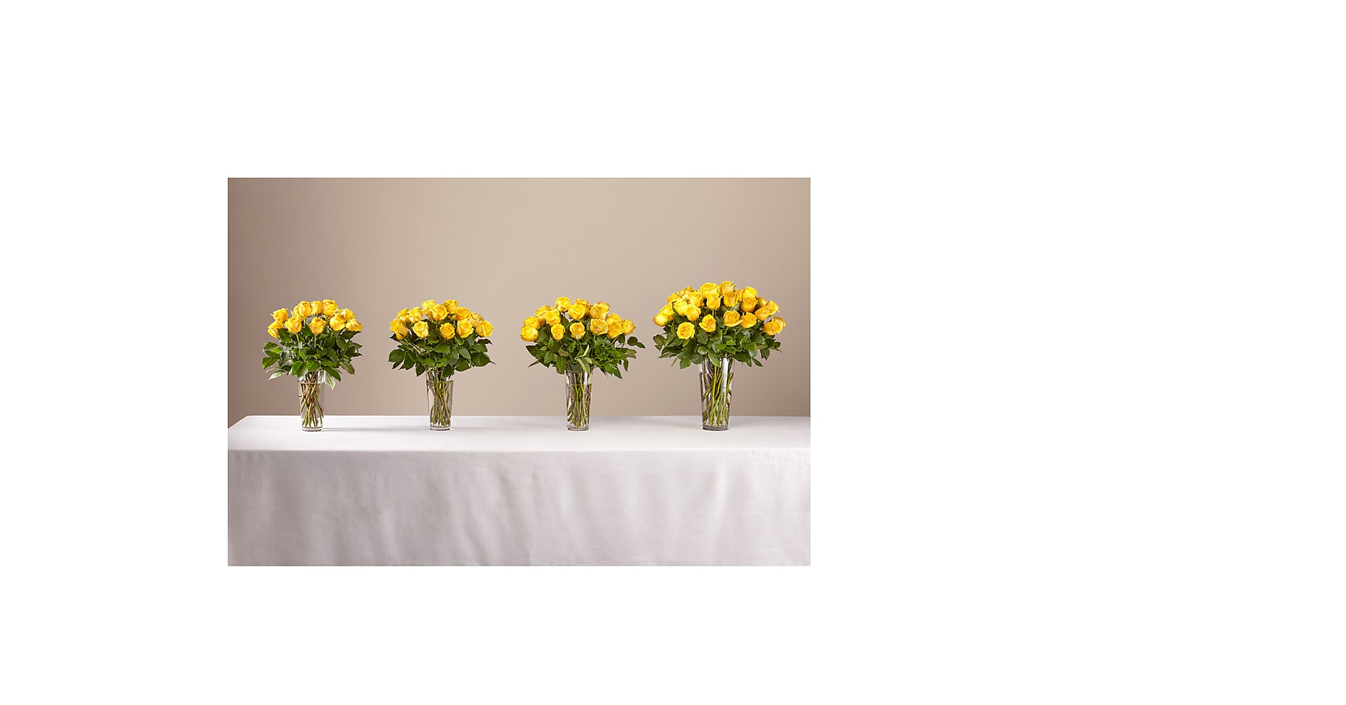 Long Stem Yellow Rose Bouquet - Image 4 Of 4
