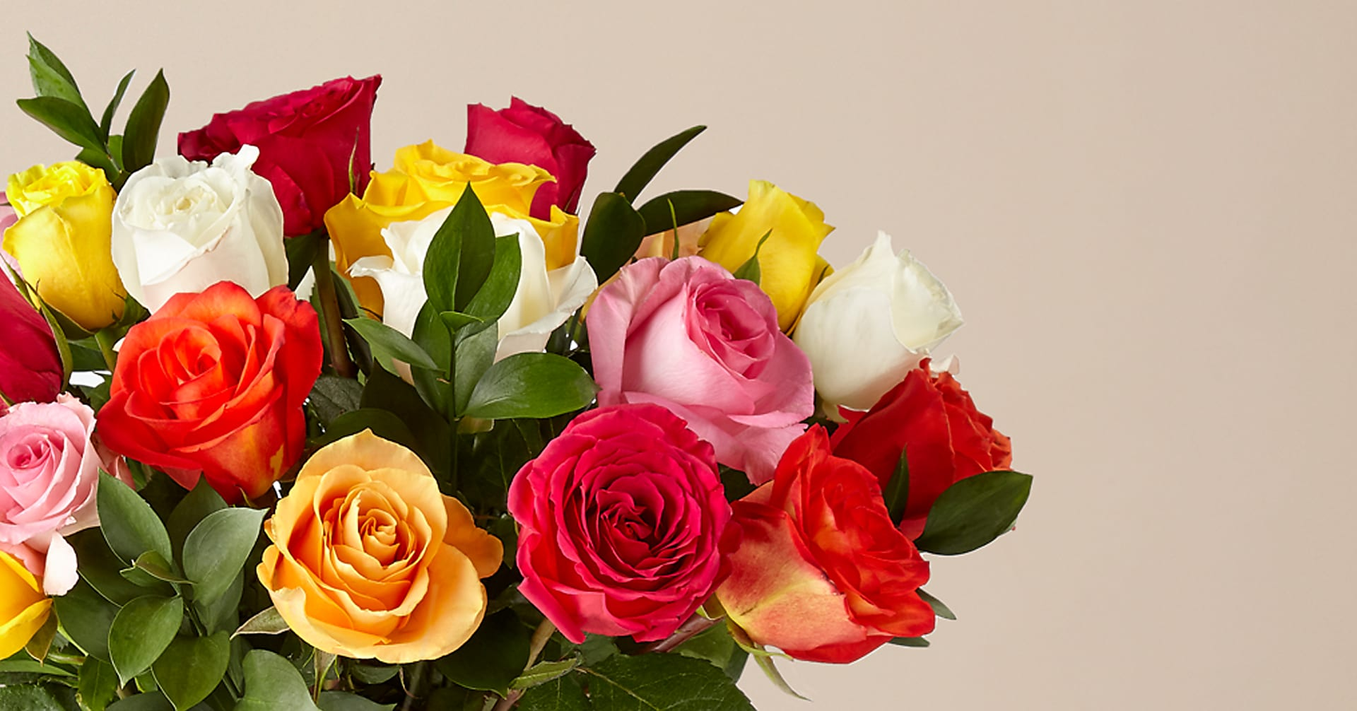 Mixed Roses with Vase - Image 3 Of 6
