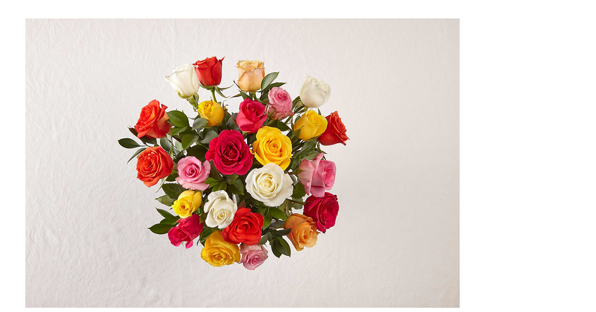 Mixed Roses with Vase - Image 5 Of 6