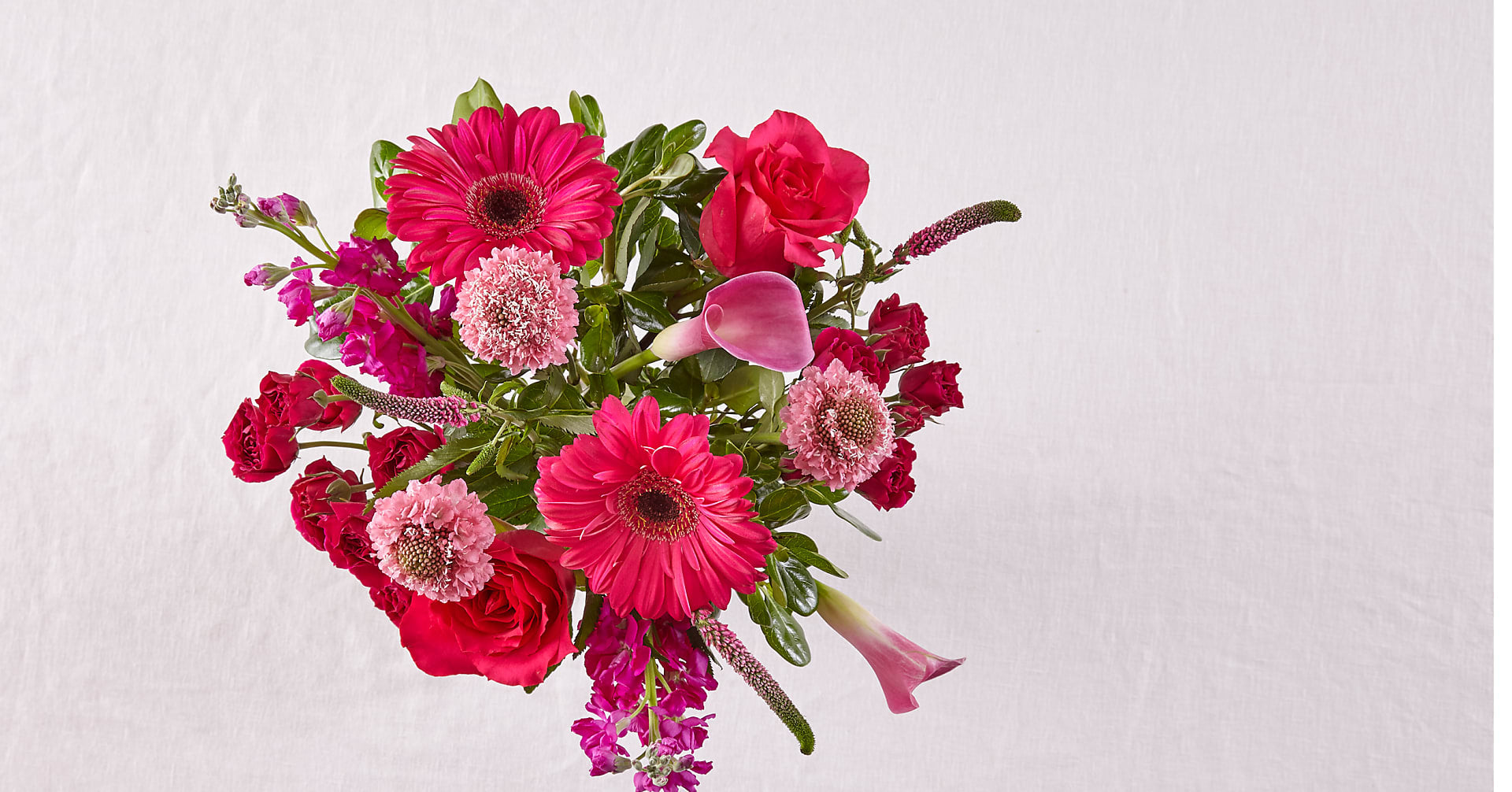 Ruby Rose & Calla Lily Mixed Bouquet - Image 2 Of 2