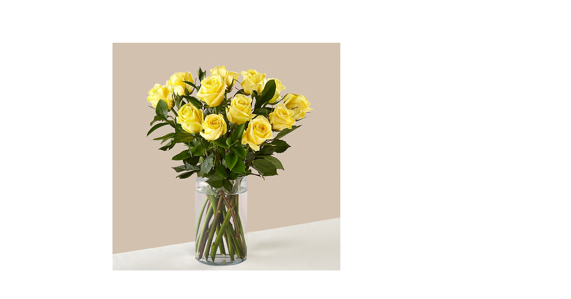 Ray of Sunshine Yellow Rose Bouquet - Image 1 Of 2
