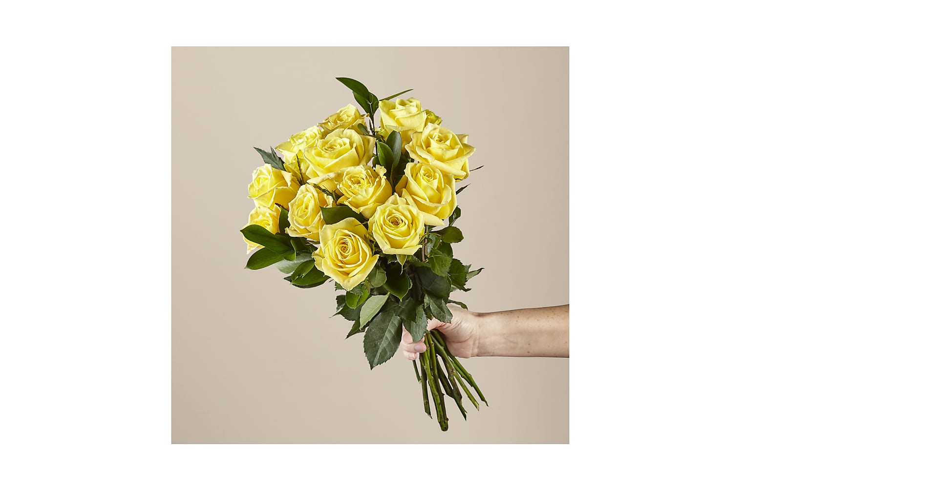 Ray of Sunshine Yellow Rose Bouquet - Image 2 Of 2