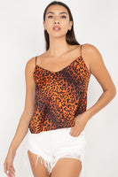 Leopard Print Cami Cropped Top