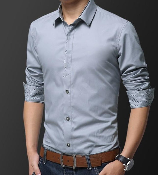 Mens Casual Button Front Slim Fit Shirt