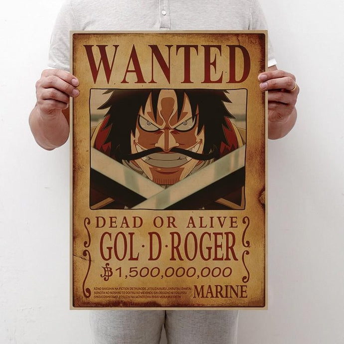 Affiches Wanted One Piece - 17 Personnages - Sunpō Shop