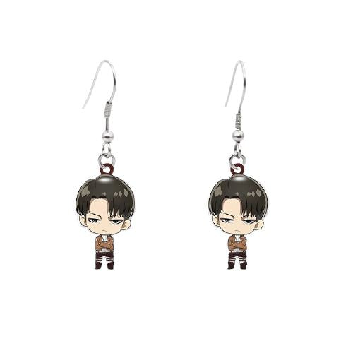Boucles d'oreilles Attack On Titan - 4 Personnages - Sunpō Shop