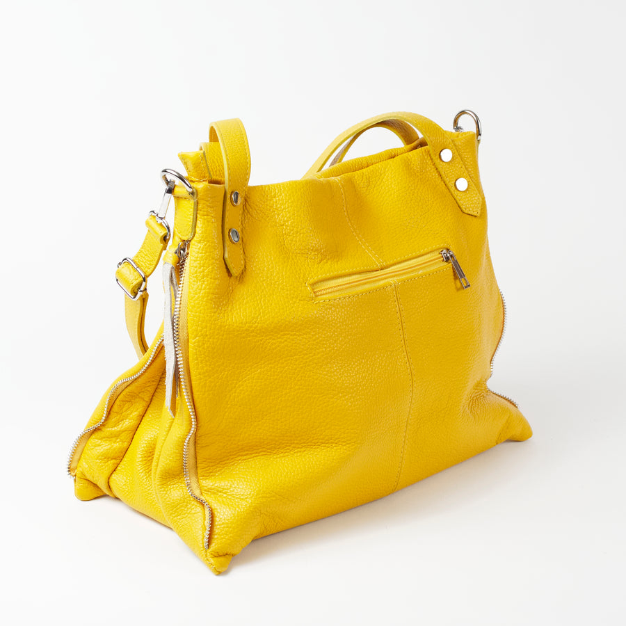 Asolo Yellow Shoulder Tote Italian Leather Solo Perché