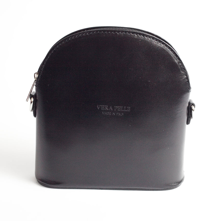 Bologna Black Crossbody Bag Italian Leather Solo Perché