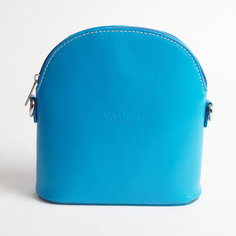 Bologna Blue Crossbody Bag Italian Leather Solo Perché