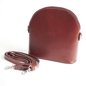Bologna Brown Crossbody Bag Italian Leather Solo Perché