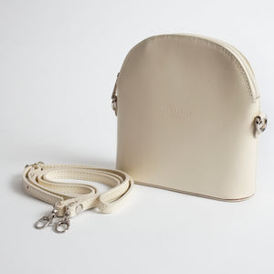Bologna Cream Crossbody Bag Italian Leather Solo Perché