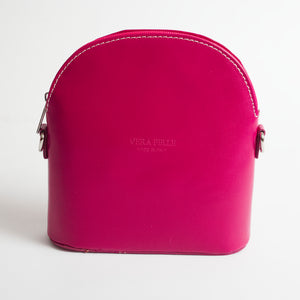 Bologna Hot Pink Crossbody Bag Italian Leather Solo Perché